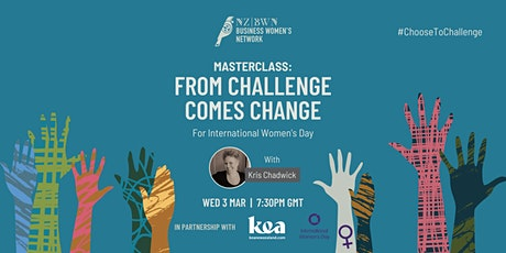 Masterclass for International Women's Day: From Challenge Comes Change tickets