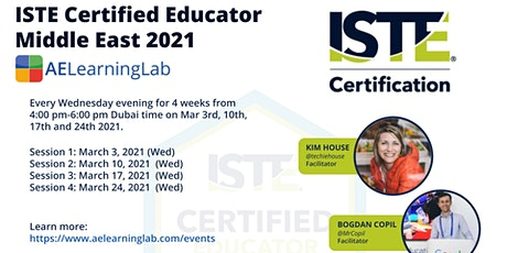 ISTE Certified Educator Middle East - Get Certified Completely Online tickets