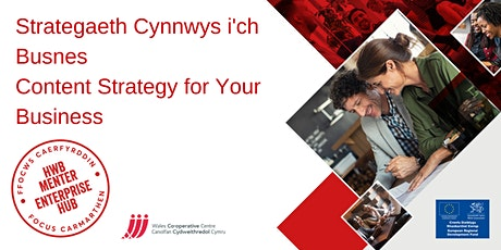 Strategaeth Cynnwys i'ch busnes | Content Strategy for your business tickets