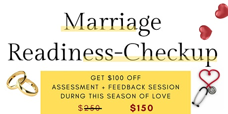 MARRIAGE  READINESS CHECK-UP tickets