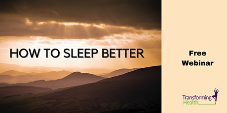 How to Sleep Better tickets