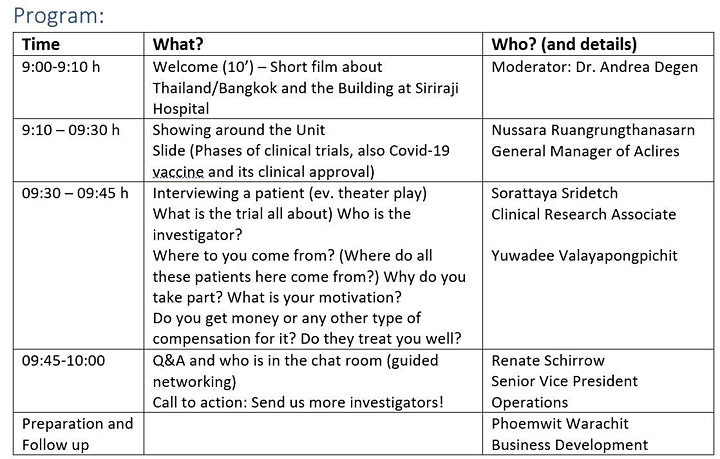 Spend your Coffeebreak with us in Bangkok and learn about clinical trials image