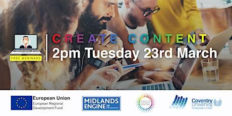 Create Better Content - Focus Digital (Webinar) tickets