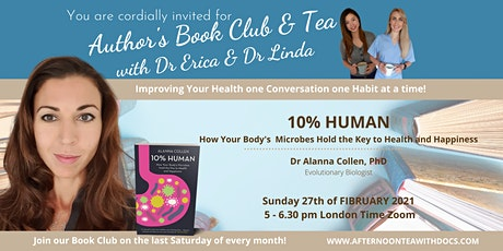 Author's Book Club -  10 % Human  and Meet the author Alanna Collen tickets