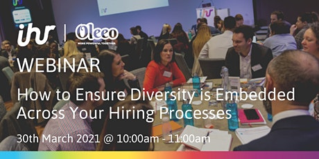 How to Ensure Diversity is Embedded Across your Hiring Processes tickets