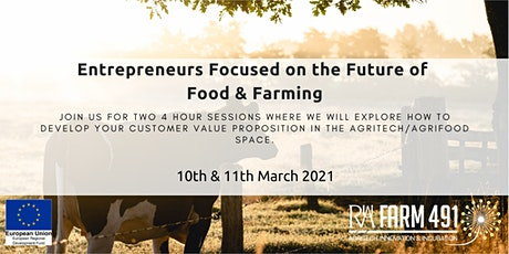 Entrepreneurs Focused on the Future of Food & Farming tickets