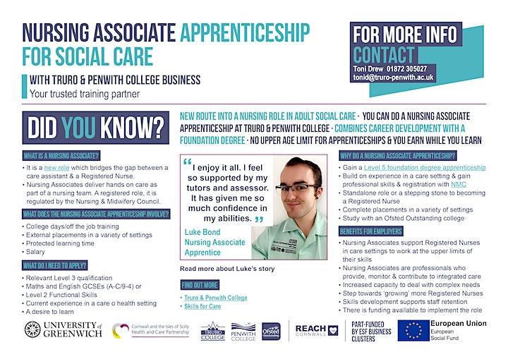 Care to Nurse?  Nursing Associate Apprenticeship Online Info Session image
