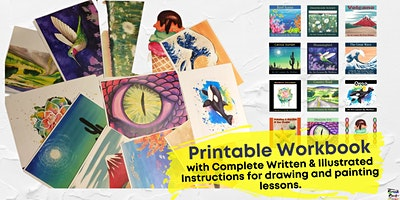 DIY Art Lessons ~ Downloadable and printable workbook by Brush & Cork