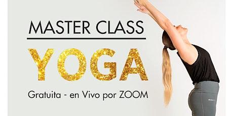 MASTER CLASS DE YOGA entradas