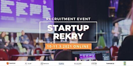 Startup Rekry Recruitment Event (ONLINE - Tampere.Finland) tickets