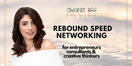 (ONLINE) Rebound Speed Networking: Entrepreneurs & Creatives bilhetes
