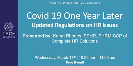 Covid 19 One Year Later  Updated Regulations on HR Issues tickets