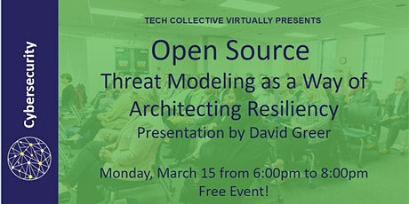 Open Source: Threat Modeling as a Way of Architecting Resiliency tickets