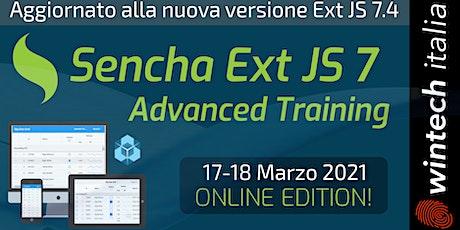 Sencha Ext JS 7 Advanced Training biglietti