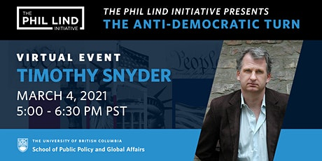 The Phil Lind Initiative Presents: Timothy Snyder tickets