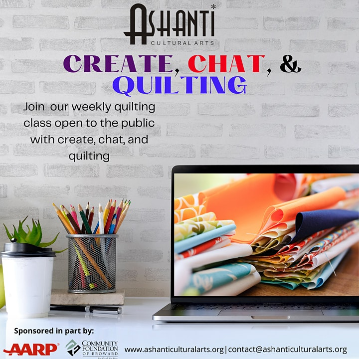 Create and Chat Quilting  Community Class  - Virtually image