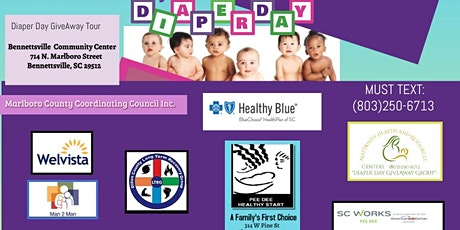 Marlboro County Diaper Day GiveAway tickets