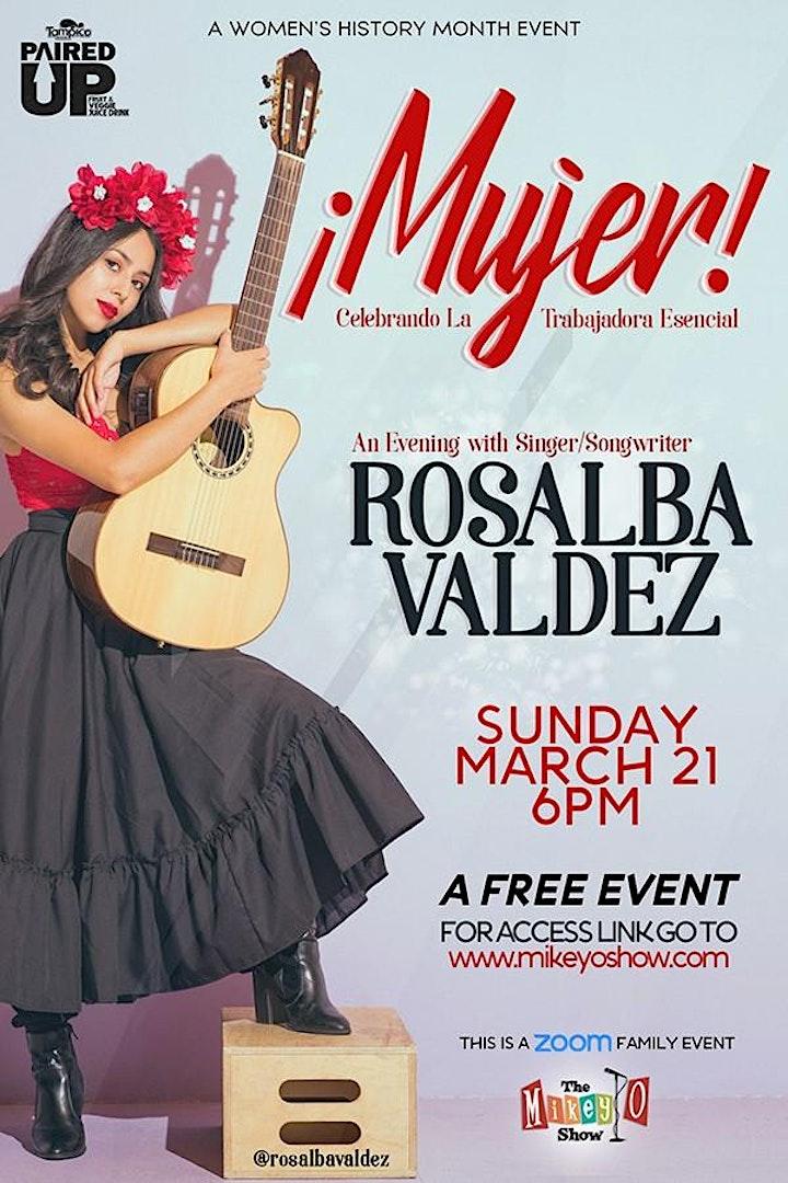 MUJER! An Evening with Singer/Songwriter Rosalba Valdez image