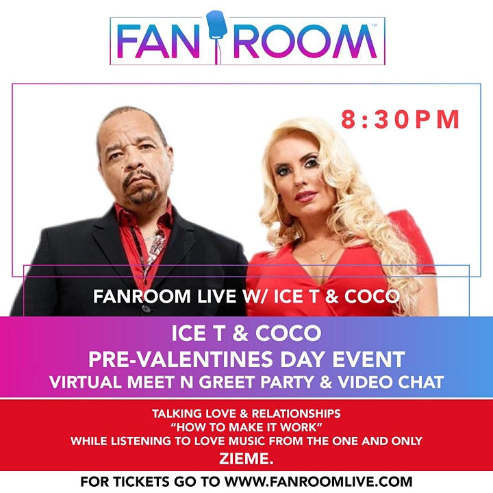 Ice T & Coco Pre Valentines Day Virtual Party & Meet N Greet  on FanRoom! image