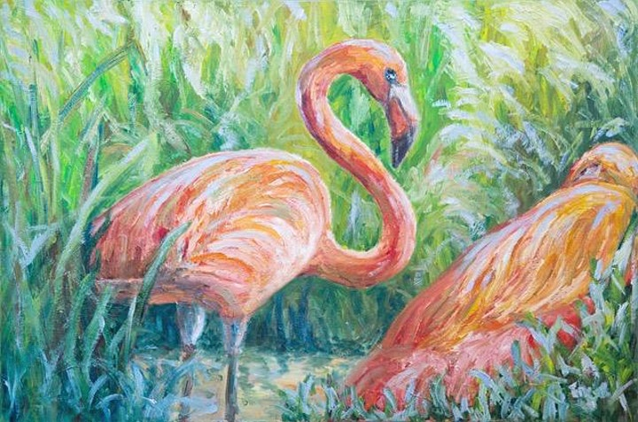Flamingo Dream Art Class image