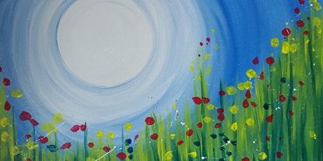"Online Painting Party ""Abstract Spring Meadow""  with Creatively Carrie! tickets"