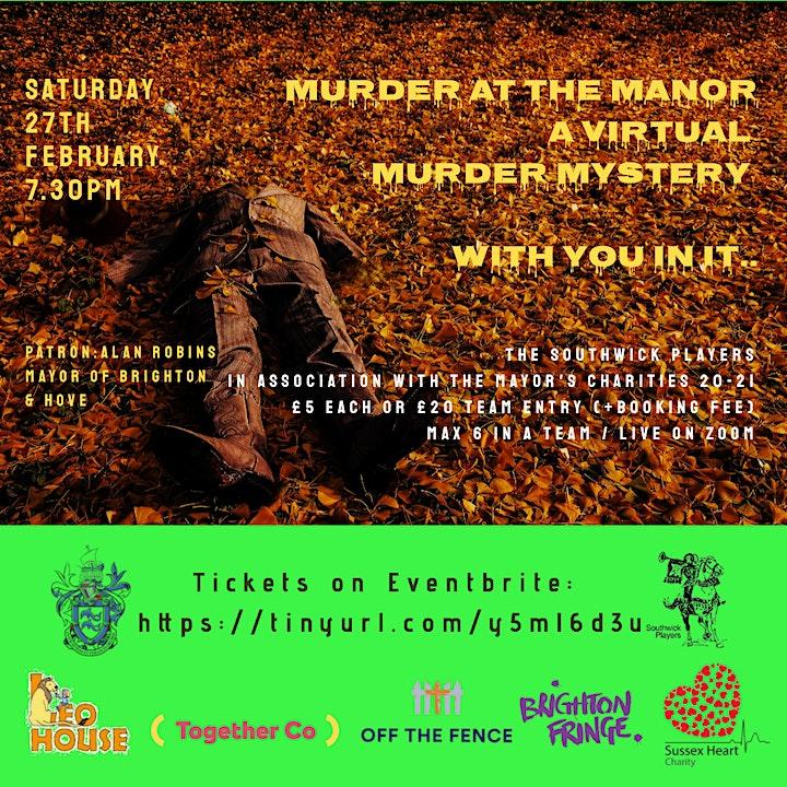 Brighton & Hove Mayor's Charities Murder Mystery Night image