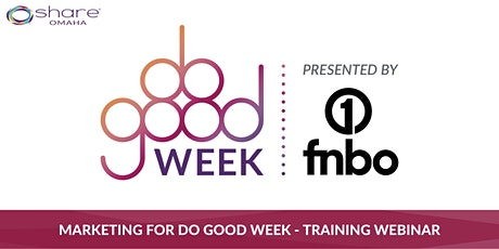 Marketing for Do Good Week tickets