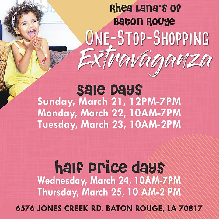 Rhea Lana's of Baton Rouge Spring & Summer Children's Consignment Sale image
