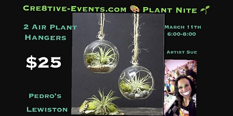 Paint/ Plant Nite - to air plant hanging globes- Pedros Lewiston 3/16 tickets