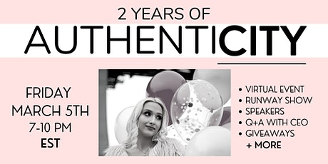 2 Years of Authenticity | Virtual Conference + Fashion Runway Show tickets