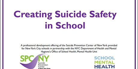 April 27 & 28 Creating Suicide Safety in School  - DaSilva & Yancovitch tickets