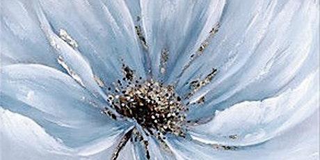 Online Adults Art Class, Big White Flower tickets