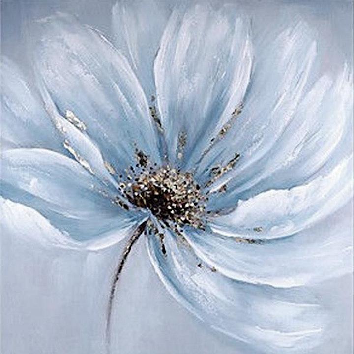 Online Adults Art Class, Big White Flower image