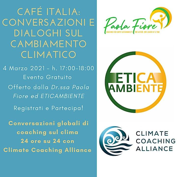 Immagine Café Italia: Conversazioni e Dialoghi  sul Cambiamento Climatico
