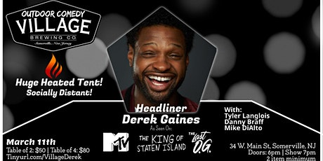 Outdoor Comedy at Village Brewing with Derek Gaines(Under Huge Heated Tent) tickets