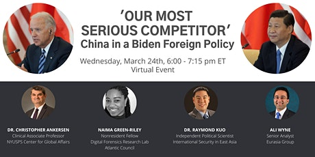 'Our most serious competitor': China in a Biden Foreign Policy tickets
