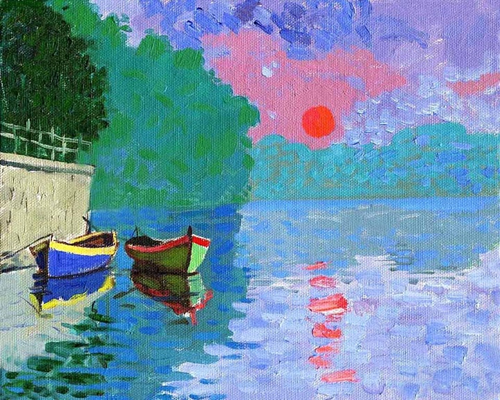 Online Adults Seascape  Painting Class - Learning Impressionism image