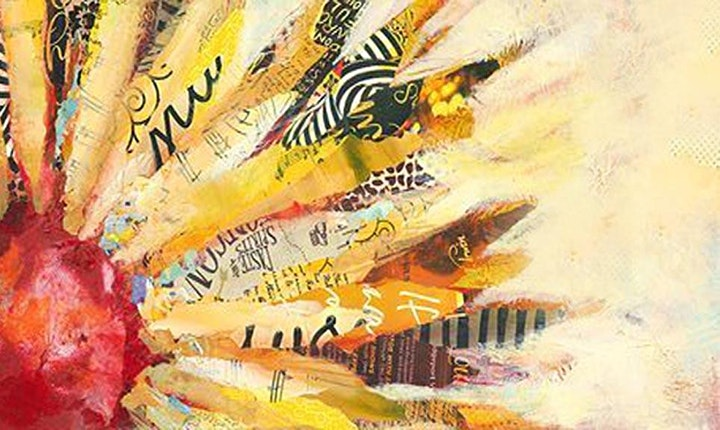 Online Sunflower Mixed Media Painting Class for Teens & Adults image