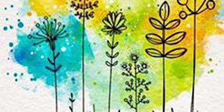 Online Creative Lettering & Watercolor Art Class for Teens and Adults tickets