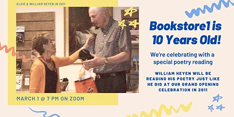 Bookstore1 10 year Anniversary Poetry Reading with William Heyen tickets