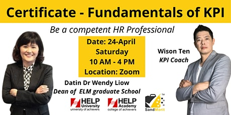 CERTIFICATE COURSE - FUNDAMENTALS OF KPI tickets