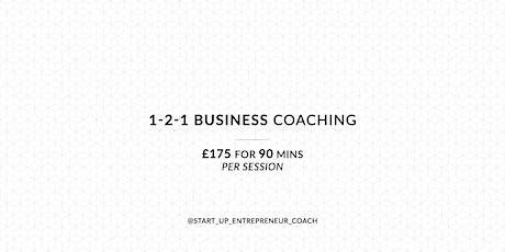 1-2-1 Business Coaching tickets