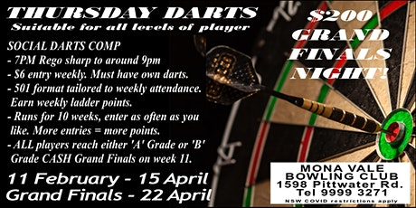 Thursday Darts at Mona Vale tickets