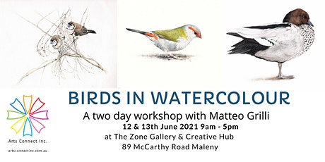 Birds in Watercolour with Matteo Grilli tickets
