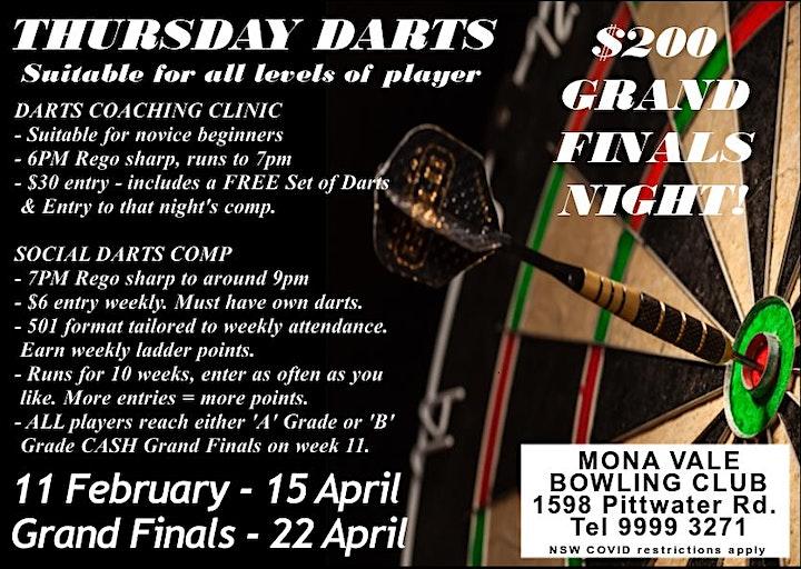 Thursday Darts at Mona Vale image