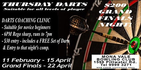 Darts Coaching Clinic - for novice to beginner tickets