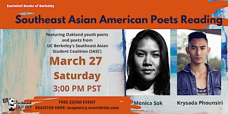 Southeast Asian American Poetry Reading with Monica Sok & Krysada Phounsiri tickets