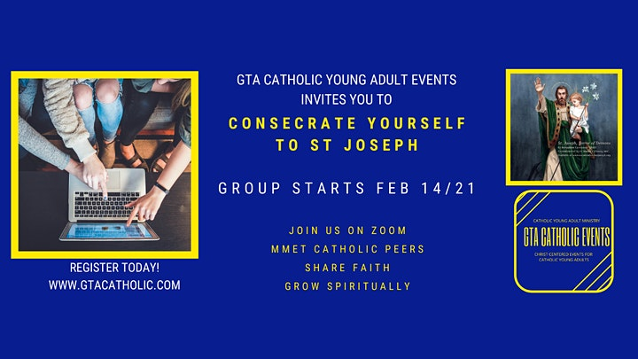 GTA Catholic Learns: ONLINE 33 Day Consecration to St Joseph image
