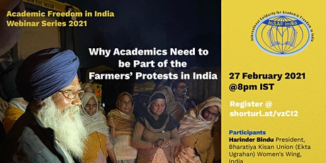 Why Academics Need to be Part of the Farmers' Protests in India tickets