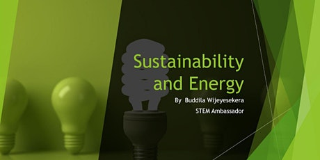 How renewable energy helps us to drive towards a sustainable future. tickets